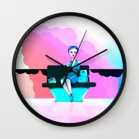 shopping Wall Clocks featuring Shopping by IOSQ