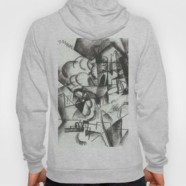 August Macke Cubist Division of Space with Figures Hoody