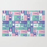 school Area & Throw Rugs featuring Beauty School by Ariel Wilson