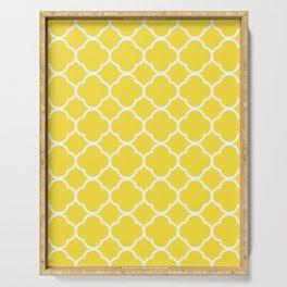 Buttercup Yellow Quatrefoil Serving Tray