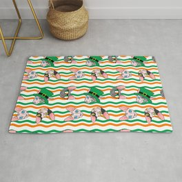 St. Paddy's Day Sphynx Rick Rack Rug