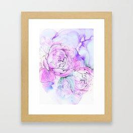 modern flowers c Framed Art Print
