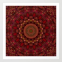 Bohemian Geometric Flower Mandala Art Print