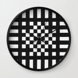 Interwoven Stripes Wall Clock