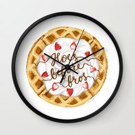 Hoes Before Bros Waffle Wall Clock