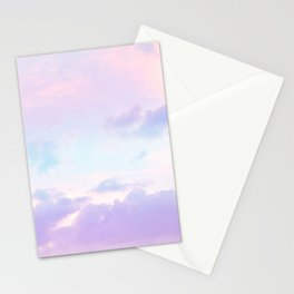 Unicorn Pastel Clouds #1 #decor #art #society6 Stationery Cards