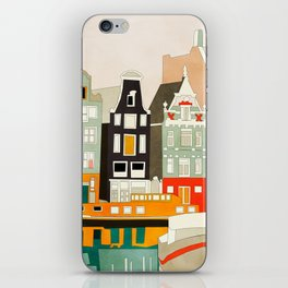 Amsterdam travel city shapes abstract iPhone Skin