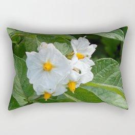 Potato Plant Flowers Rectangular Pillow