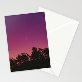 Sunset and Moon Stationery Cards