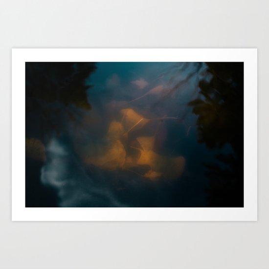 Ginko Leaves Art Print