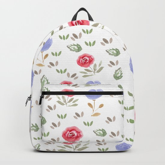 Watercolor . Floral pattern 3 Backpack