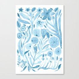 Swept Away Wildflowers Canvas Print