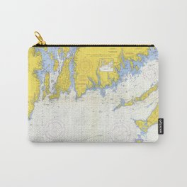 Vintage Buzzards Bay, Vineyard Sound and Coastal RI Map Carry-All Pouch
