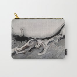 Silver Streak - Fluid Acrylic Abstract Flow Painting Carry-All Pouch