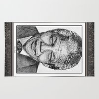 lawyer Area & Throw Rugs featuring Nelson Mandela by JMcCombie