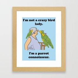 Crazy Bird Lady Framed Art Print