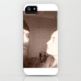 Why you look at me like at someone else? iPhone Case