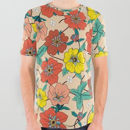 Potentillas and Daisies All Over Graphic Tee