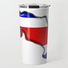 Costa Rica Map with Costa Rican Flag Travel Mug