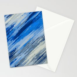 blue grey and dark blue painting abstract background Stationery Cards