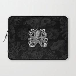 Octopus1 (Black & White, Square) Laptop Sleeve