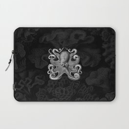 Octopus1 (Black & White, Square) Laptop Sleeve