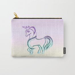 Unicorn #1 #drawing #decor #art #society6 Carry-All Pouch