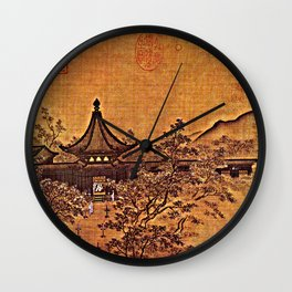 Waiting for Guests by Lamplight - Circa 1250 Wall Clock
