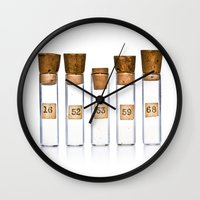 lab Wall Clocks featuring Lab Vials by THEPALMER