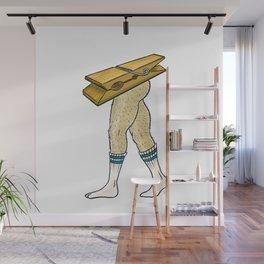 Clothespin Scrambled Legs Wall Mural