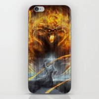 lotr iPhone & iPod Skins featuring 'You shall not pass' by jasric