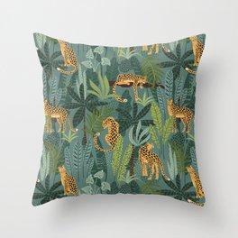 Jungle Leopards Throw Pillow