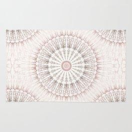 Cream Rose Mandala Rug