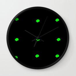 Green granules Wall Clock