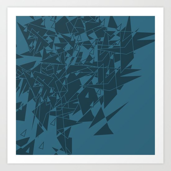 Glass BG Art Print