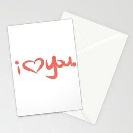 I Love You in Peach Stationery Cards