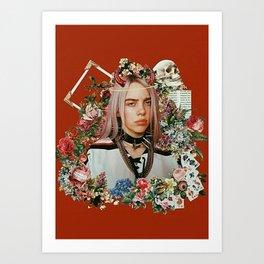 Billie Eilish Graphic Artwork Art Print