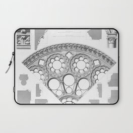 Notre Dame Rose Window Facade Architecture Laptop Sleeve