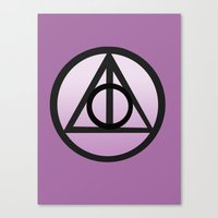 deathly hallows Canvas Prints featuring Deathly Hallows by AriesNamarie