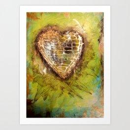 confused heart Art Print