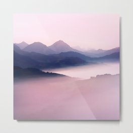Foggy Mountains II Metal Print