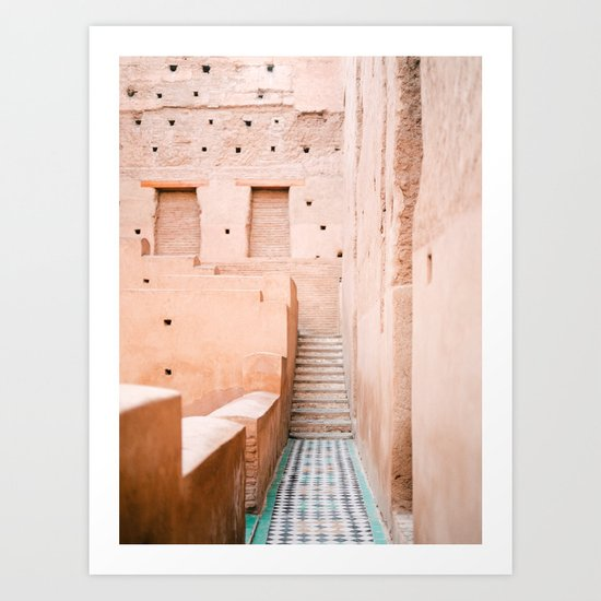 Colors of Marrakech Morocco - El badi palace photo print | Pastel travel photography art by raisazwart