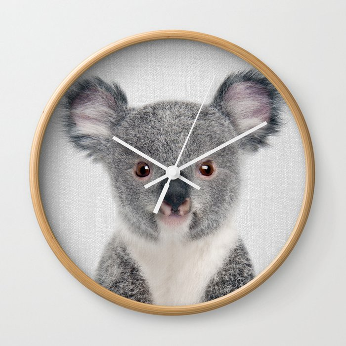 Baby Koala - Colorful Wall Clock