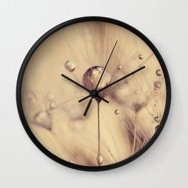 dandelion gold Wall Clock