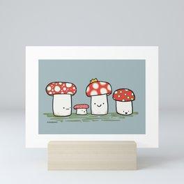 Royal Mushroom Jamboree Mini Art Print