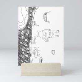 Dreams of a Venturous Space Alien Mini Art Print