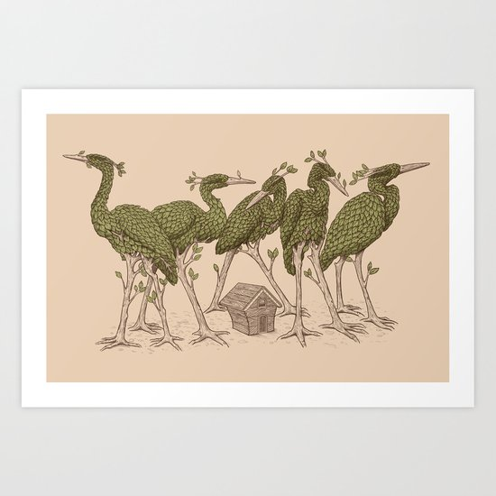 Bird Forest Art Print