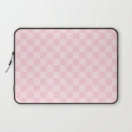 Large Soft Pastel Pink Checkerboard Chess Squares Laptop Sleeve