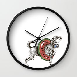 Summer chihuahua dog Wall Clock