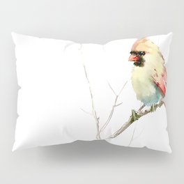 Northern Cardinal (female Cardinal bird) Pillow Sham